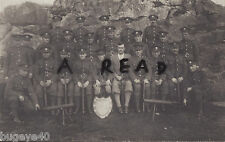 WW1 Cadet Group Unknown School OTC shooting team with Lewis Gun