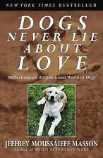 Dogs Never Lie about Love : Reflections on the Emotional World of Dogs by Jef...