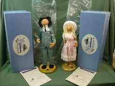 Annalee Dolls Museum Collection 1959 Rogers Clothing Store Man & Woman 1979 AL85