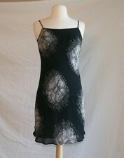 Moschino dress size 4 black rayon Cheap & Chic Leonadro Di Vinci