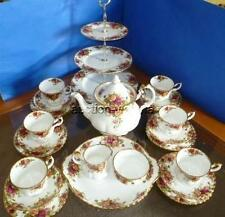 Royal Albert England Old Country Roses Bone China 26 Piece Tea Set Service for 6