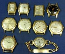 W 121. WATCH MAKER 10 VINTAGE MECHANICAL GENTS WRIST WATCHES 4 ARE TICKING, BUL