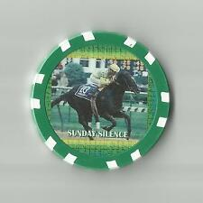 **SUNDAY SILENCE** # 31 IN TOP 100 RACE HORSES    HORSE RACING COLLECTOR   CHIP