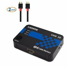 Cable Matters® 3-Port HDMI Switch with 4K Resolution Support