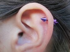 "Arrow Cartilage Stud Body Piercing Earring 18G 5/16"" (8mm)"