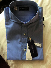 RALPH LAUREN PURPLE LABEL KEATON THIN-STRIPE DRESS SHIRT
