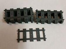 10 x LEGO RC STRAIGHT TRACKS FOR LEGO TRAIN 53401 60051 60052 3677 7938 7939