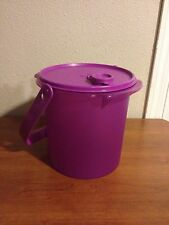 Tupperware Bucket Canister w/ cap and Handle 5qt Purple New