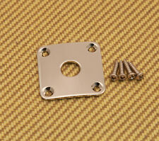 AP-0633-001 Gotoh Curved Square  Jack Plate for Les Paul Guitar/Bass - Nickel