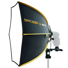 "NEW SMDV Softbox Hexagon Diffuser 60 23"" for Speedlight Speedlite Quantum Flash"