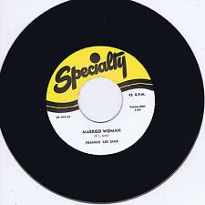 FRANKIE LEE SIMS - MARRIED WOMAN / I'M LONG LONG GONE (Killer '50s BLUES Bopper)