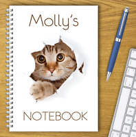 A5 & A4 PERSONALISED NOTEBOOKS, NOTE BOOK, NOTE PAD, 50 LINED OR BLANK /06