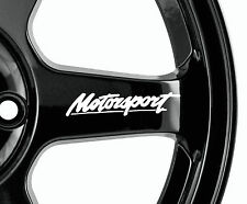 Motorsport 8 x logo decal graphics stickers alloy wheels JDM Racing 80mm