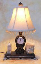 Tischlampe Lampe Schreibtischleuchte mit Uhr Stifthalter Briefhalter PQ009-b