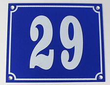 """Aluminium Hausnummer """"29"""" 12x10cm blau Hausnummernschild sofort lieferbar Schild"""
