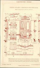 93 MONTREUIL ECOLE DE LA BOISSIERE ARCHITECTE NANQUETTE & NICOLAS IMAGE 1917/20