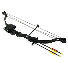 Arco de poleas compuesto de 25 lbs y 185 FPS Hellbow, color negro ideal para la