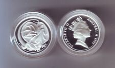 1991 SILVER Proof 2 Cent Frilled Necked Dragon Lizard ex Masterpieces in Set **