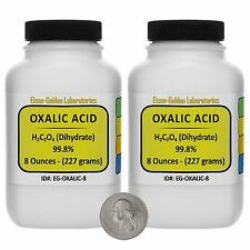Oxalic Acid [C2H2O4] 99.8% ACS Grade Powder 1 Lb in Two Space-Saver Bottles USA