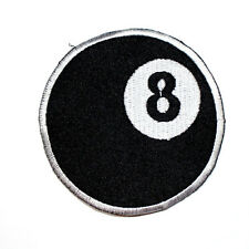 8 Ball Pool Billiards game Rock Punk Biker Embroidered Jeans Shirt Iron on Patch