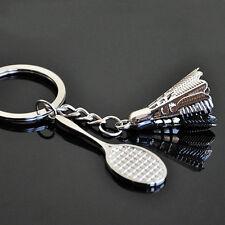 Key Chains Keychain Keyfob Keyring Creative 3D Model Badminton Bat Chic Keyfob