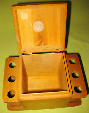 Vintage 1930s Tobacco Humidor and 6 Pipe Holder Combo