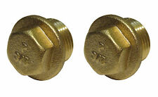 3/8 Inch Brass Flanged Plugs | BSP - British Standard Pipe Thread | 2 Pack