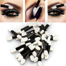 Disposable Make-Up Double-Ended Eye Shadow Sponge Lip Brush Applicator Cosmetic