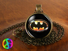 Batman Superhero Handmade Men Women Glass Fashion Necklace Pendant Jewelry Gift