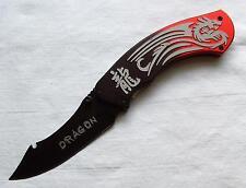 Taschenmesser chinesischer Drache mit Schriftzug Pocket Knife Dragon