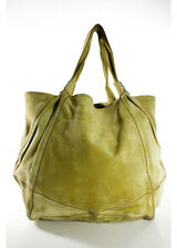 ROGER VIVIER Suede Lime Green Large Tote