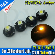 10 x T3 Neo Wedge 1-1210 SMD SMT LED Amber Cluster Instrument Dash Climate Bulb