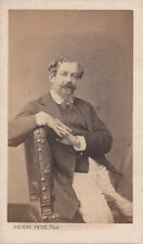 Photo carte de visite : Pierre Petit ;Homme assis (Moustache à la napoléon III)