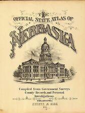 1885 NEBRASKA STATE ATLAS maps old GENEALOGY GHOST TOWN TREASURE HUNTING DVD S19
