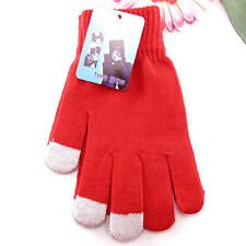 Women/Men Knitted Wool Hand Wrist Warmer Fingerless Winter Touch Screen Gloves
