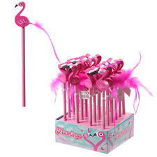Pink Flamingo Pencil & Eraser Kids Girls School Gift Party Bag Stocking Fillers