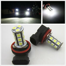 2x 12V White 6000K H11 18-SMD 5050 LED Headlight Bulbs Driving Fog Backup Light