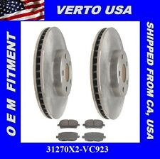 Verto USA Set OF 2 Premium Front Brake Rotors & Ceramic Pads  31270X2-VC923
