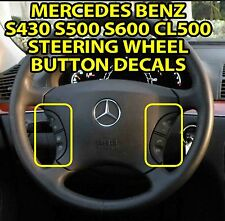 MERCEDES W220 S430 S500 CL500 STEERING WHEEL BUTTON REPAIR DECALS STICKERS V4