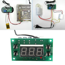 AC/DC12V Digital Thermostat Temperature Alarm Controller Meter Sensor Blue LED
