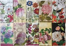 10 FLORAL DESIGNS Guest Towel Collection #11 MIXED PAPER NAPKINS Decoupage