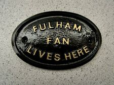 FULHAM  - HOUSE DOOR PLAQUE SIGN -  NEW !