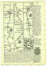 1720 Bowen Hoja de Ruta Garstang Lancaster Bolton Kendal Penrith Carlisle Etc