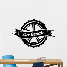 Car Repair Wall Decal Wheel Auto Mechanic Vinyl Sticker Garage Decor Art 124hor