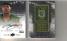 2013 UD All Time Greats LeBron James Auto Autograph Banner Seasons Card #25/25