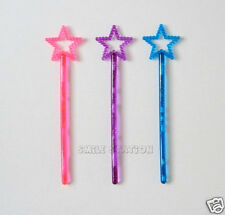 12 Mini Plastic Princess Star Wands Party Goody Loot Bag Favor Costume Supply