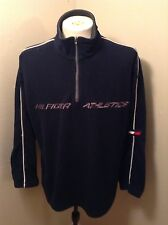Vintage Tommy Hilfiger Athletics 90's Fleece Pullover Sweater Jacket Sz L EUC