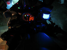 1x Blue 12V LED Motorcycle Accent Under Glow Street Light Brake R1 R6 ZX6 ZX10 R