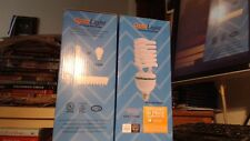 2 OptoLight JUMBO Fluorescent CFL Bulbs 45W = 200W equivalent Very Very Bright