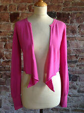"Vince Bright Pink Wrap Cardigan in Red in 100% Cashmere - S (30"")"